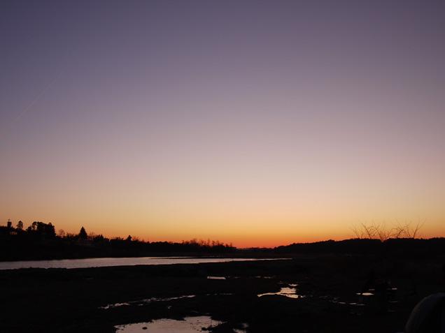 玉淀の朝日